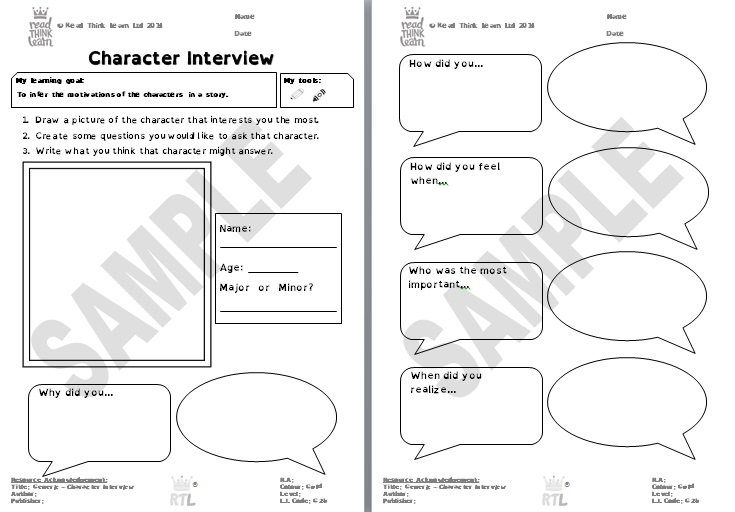 Generic - Character Interview