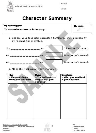 Generic - Character Summary