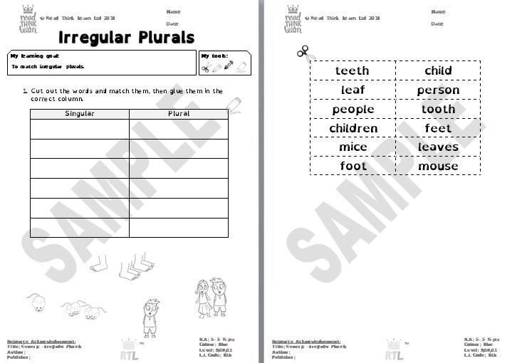 Generic - Irregular Plurals 2