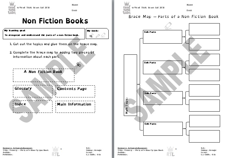 Generic -Parts of a Non-Fiction Book