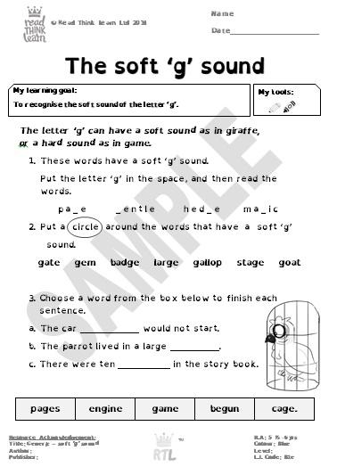 Generic - The soft 'g' sound