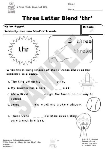 Generic - Three Letter Blend 'thr'