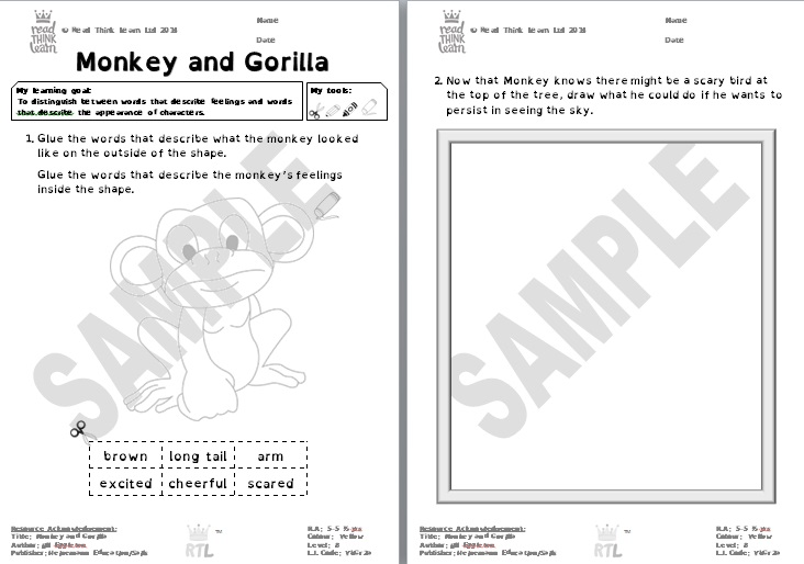Monkey and Gorilla