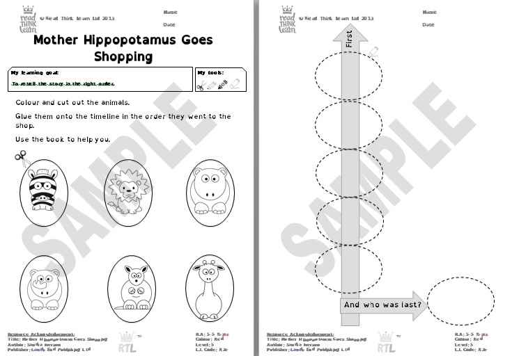 Mother Hippopotamus Goes Shopping