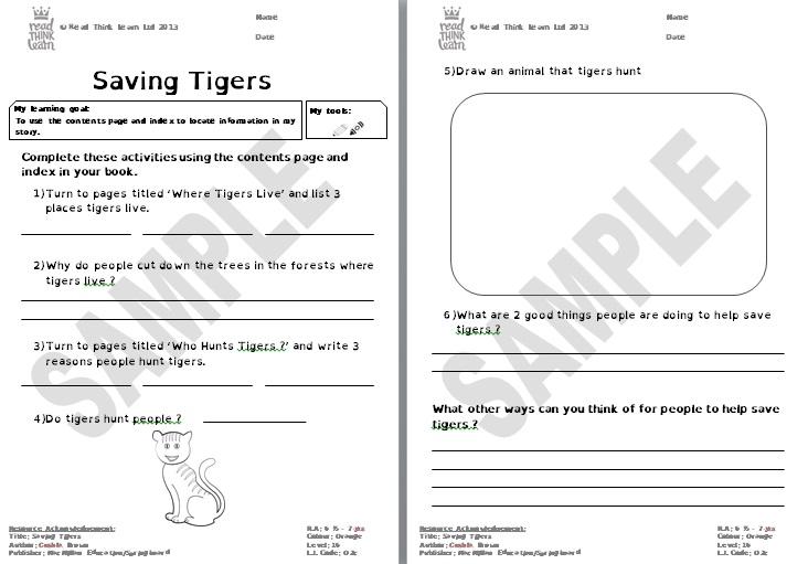 Saving Tigers