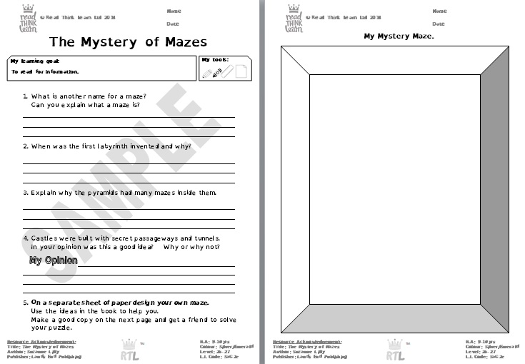 The Mystery of Mazes